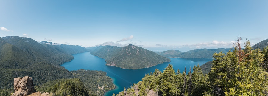 Lake Crescent from Mt. Storm King