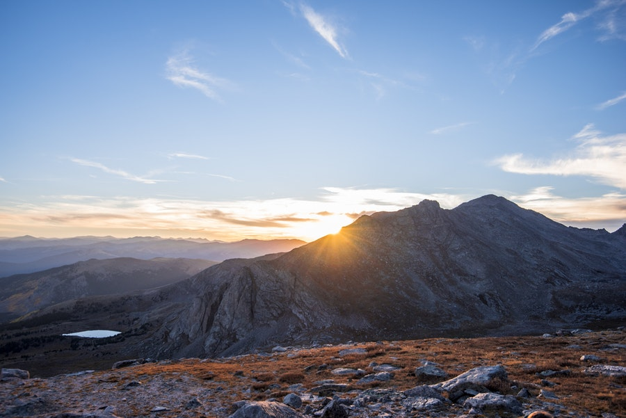 Watch the Sunset from Mount Evans Road