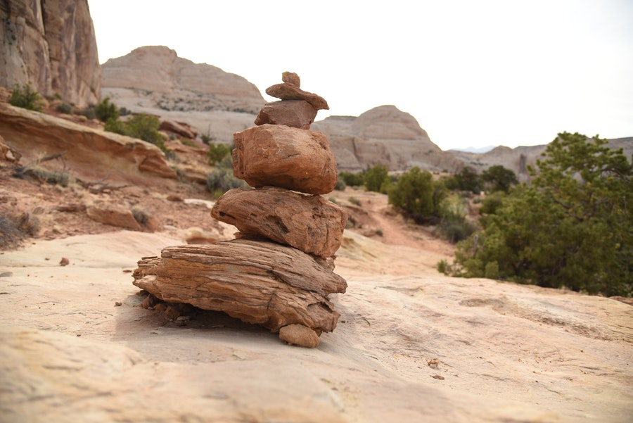 Cairn in Capitol Reef National Park